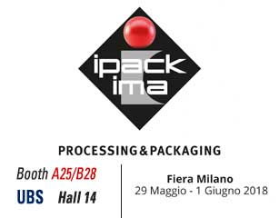 IPACK-IMA in Milano  - UBS : Hall 14 – Booth A25/B28